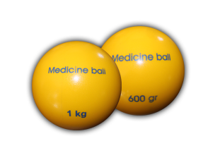 "Medicine Balls from ""Kogelan Material"" with Plain Surface"