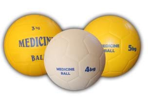 "Medicine Balls from ""Kogelan Material"" with Sport Designed Surface"
